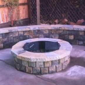 Highland Fire Pit with Caps 2 courses