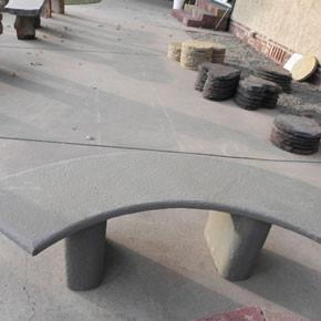 Bench-Blue Stone Crescent Moon