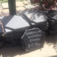 Antique Black Irregular Stone Stepping Stone