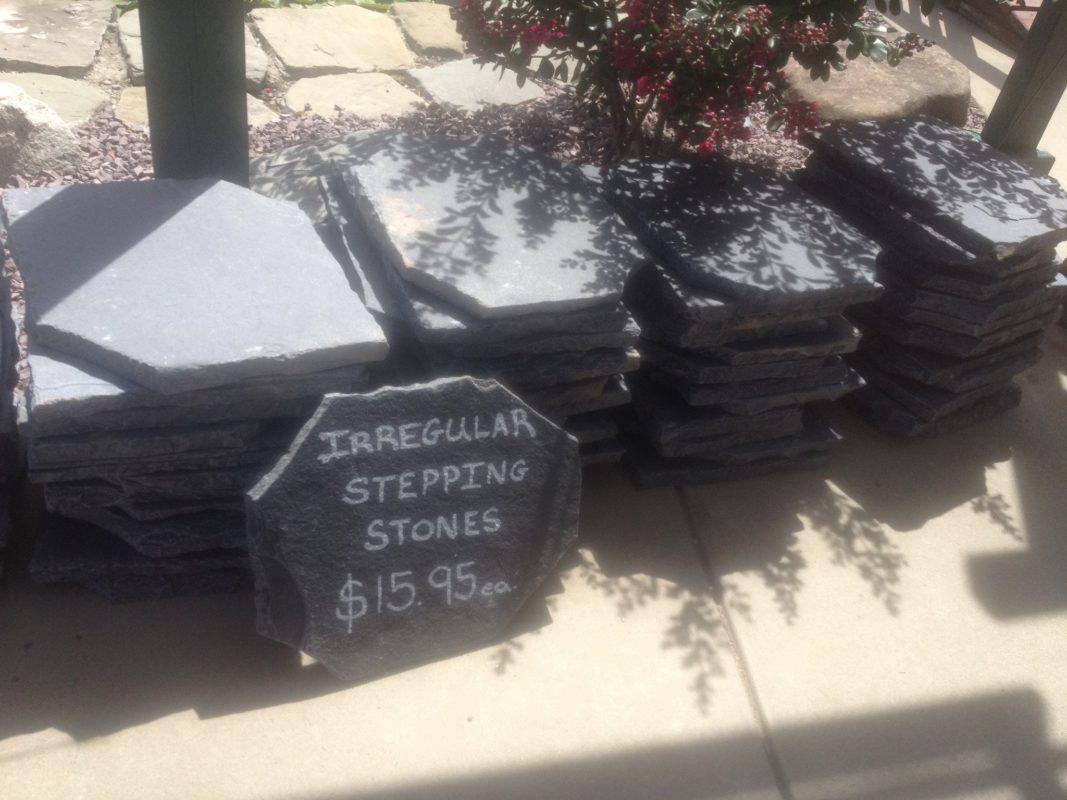 Antique Black Irregular Stone Stepping Stone