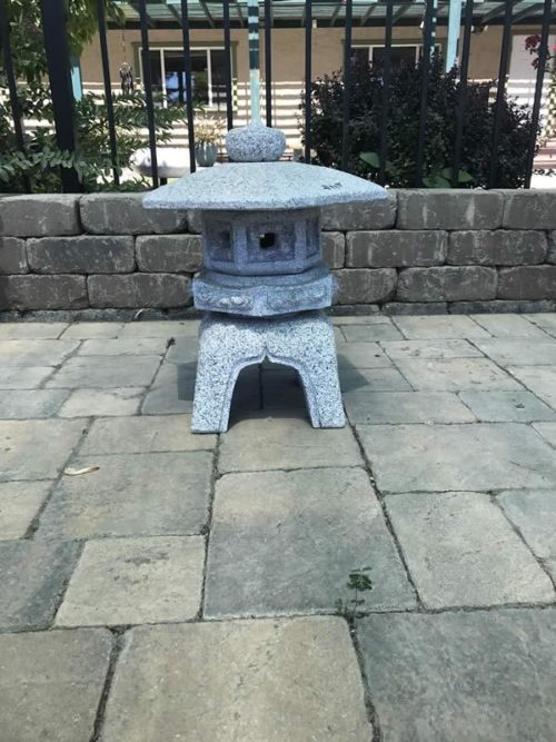 18 inch Granite Kodai Rokkau Yukumi Lantern