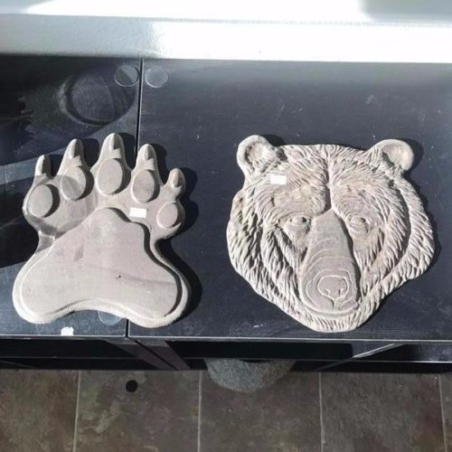 Cast Iron Bear Head and Paw