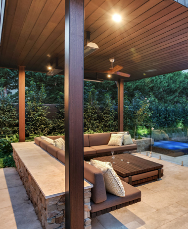 Covered Patio in Northern California by Sutherland Landscape of Chico California