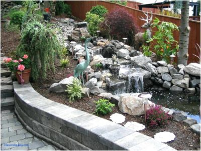 Sutherland Landscape large water feature backyard stream and landscaping inspiration