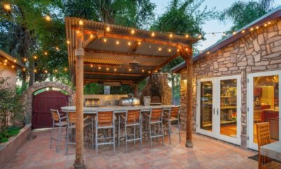 Great patio setup by Sutherland Landscape