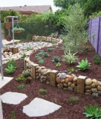 New rock wall landscaping by Sutherland Landscape in Chico, California