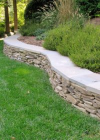 Stylish retaining wall styles at Sutherland Landscape in Chico California