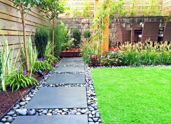 Modern small yard design