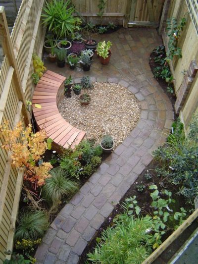 incredible layout for a tiny yard landscape