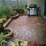 Sutherland Landscape raised paver patio design for small backyard BBQ area in Northern California