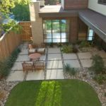 Sutherland Landscape modern backyard pavers create visually interesting patio area
