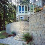 Sutherland Landscape impressive retaining walls and steps with matching pavers
