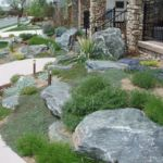 Sutherland Landscape front yard xeriscape water saving landscaping ideas