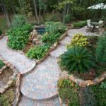 Sutherland Landscape northern California water saving plants and retaining wall terraced pavers