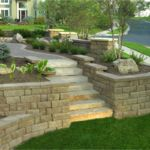 Sutherland Landscape front yard retaining walls and xeriscape landscape