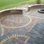 Sutherland Landscape patio paver design inspiration with creative use of different colored pavers for stylish effect