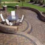Sutherland Landscape modern pavers used for contemporary stepped patio levels