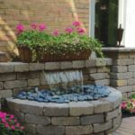 Pondless fountain by Sutherland Landscape Center in Chico, California