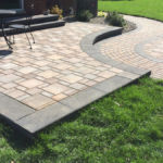Sutherland Landscape modern concept pavers for stepped patio design