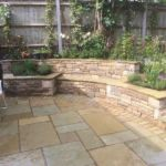 Sutherland Landscape raised patio pavers Inspirational Built in stone bench and raised planters