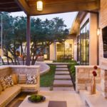 Backyard entertaining patio idea by Sutherland Landscape