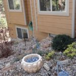 Defensible fire safe border around house by Sutherland Landscape