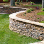 Heritage block rock wall by Sutherland Landscape